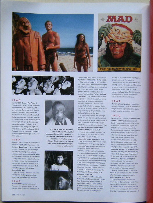Image for Planet of the Apes (2 articles in The Face Magazine)