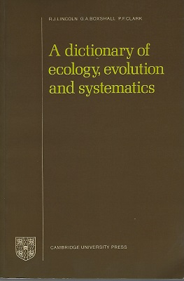 Image for A Dictionary of Ecology, Evolution and Systematics