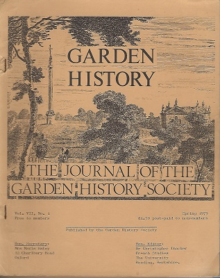 Image for The Journal of the Garden History Society Vol VII number 1