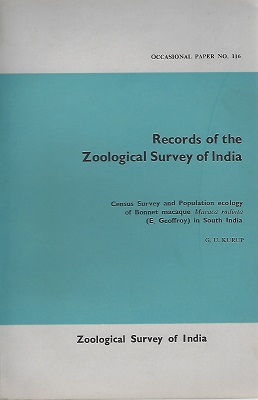 Image for Census Survey and Population Ecology of Bonnet Macaque (Macaca radiata) in South India