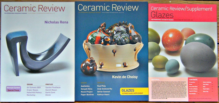 Image for Ceramic Review - The International Magazine of Ceramics  - Issues 188 and  192 (together with the supplement on glazes)