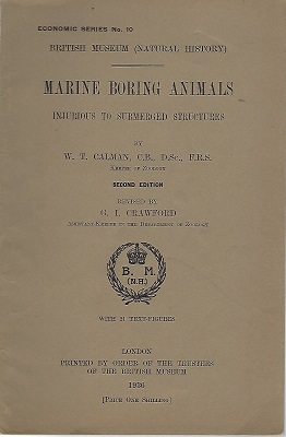 Image for Marine Boring Animals Injurious to Submerged Structures