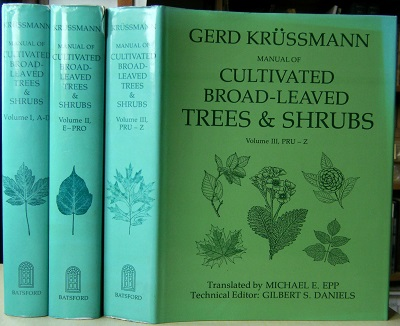 Image for Manual of Cultivated Broad-Leaved Trees and Shrubs - 3 volumes