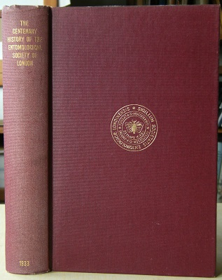 Image for The History of the Entomological Society of London, 1833 - 1933    [Richard Fitter's copy]