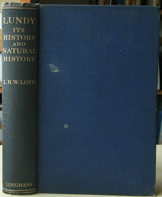 Image for Lundy - Its History and Natural History   [Richard Fitter's copy]