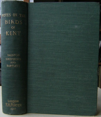 Image for Notes on the Birds of Kent [Richard Fitter's copy]
