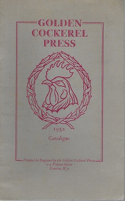 Image for Golden Cockerel Press - 1952 Catalogue