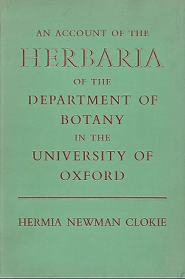 Image for An Account of the Herbaria of the Departmeny of Botany in the University of Oxford