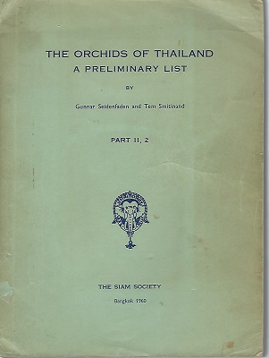 Image for The Orchids of Thailand - A Preliminary List.   Part II, 2
