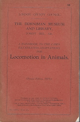Image for A handbook to the cases illustrating adaptations for animal locomotion  (The Horniman Museum)