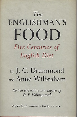 Image for The Englishman's Food - Five Centuries of English Diet   [Alan Davidson's copy]