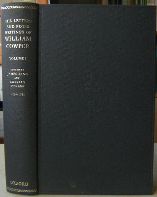 Image for The Letters and Prose Writings of William Cowper.  Volume 1 - Adelphi and Letters 1750-1781
