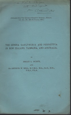 Image for The Genera Gaultheria and Pernettya in New Zealand. Tasmania and Australia