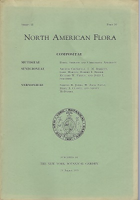 Image for North American Flora Series II Part 10 - Compositae :  Mutisieae, Senecioneae, Vernonieae