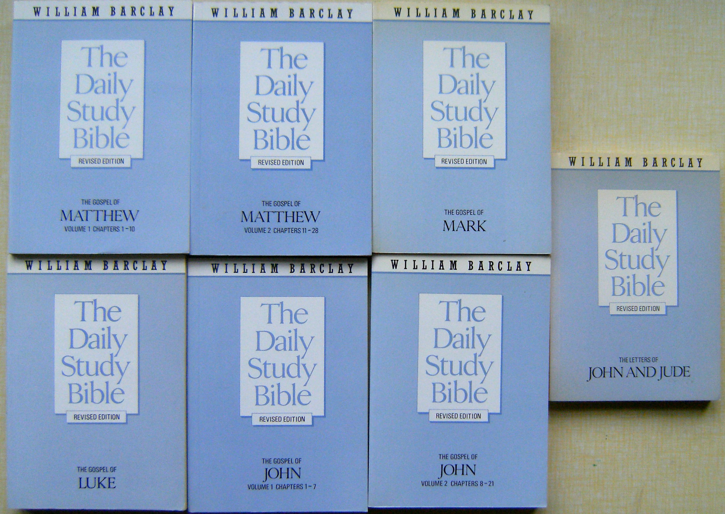 Image for The Daily Study Bible (Revised edition) - The Gospel of Matthew (2 vols);  The Gospel of Mark; The Gospel of Luke; The Gospel of John (2 vols);  The Letters of John and Jude