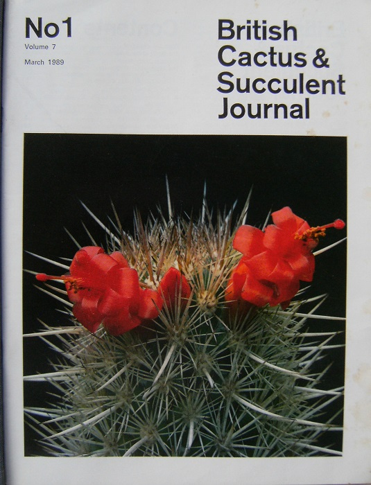 Image for British Cactus & Succulent Society Journal - Volumes 7, 8, and Volume 9 part 1 & 2