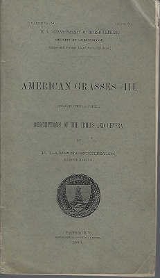 Image for American Grasses - III.  Descrptions of the tribes and genera