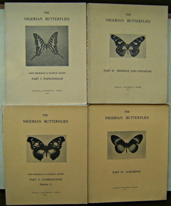 Image for The Nigerian Butterflies. Part 1 : Papilionidae. Part 2: Pieridae and Danaidae. Part 5: Nymphalida, section s.  Part 6: Acraeidae