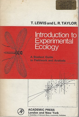 Image for Introduction to Experimental Ecology - a student guide to fieldwork and analysis (Peter Moore's copy)