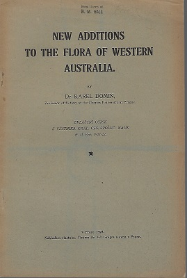 Image for New Additions to the Flora of Western Australia [ H.M. Hall's copy]
