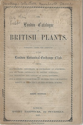 Image for The London Catalogue of British Plants, published under the direction of the London Botanical Exchange Club