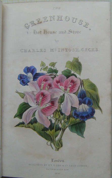 Image for The Greenhouse, Hot House and Stove. Including Selected Lists of the Most Beautiful Species of Exotic Flowering Plants and Directions for their Cultivation