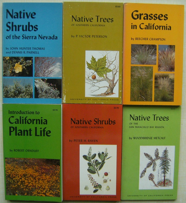 Image for California - a collection of botanical guides : Native Shrubs of Sierra Nevada, Native Trees of Southern California; Grasses in California; Introduction to California Plant Life; Native Shrubs of Southern California; Native Trees of San Francisco Region
