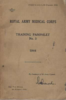Image for Royal Army Medical Corps: Training Pamphlet No.3, (1944)