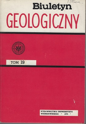 Image for Biuletyn GeologicznyVolume 19  (Peter Moore's copy)