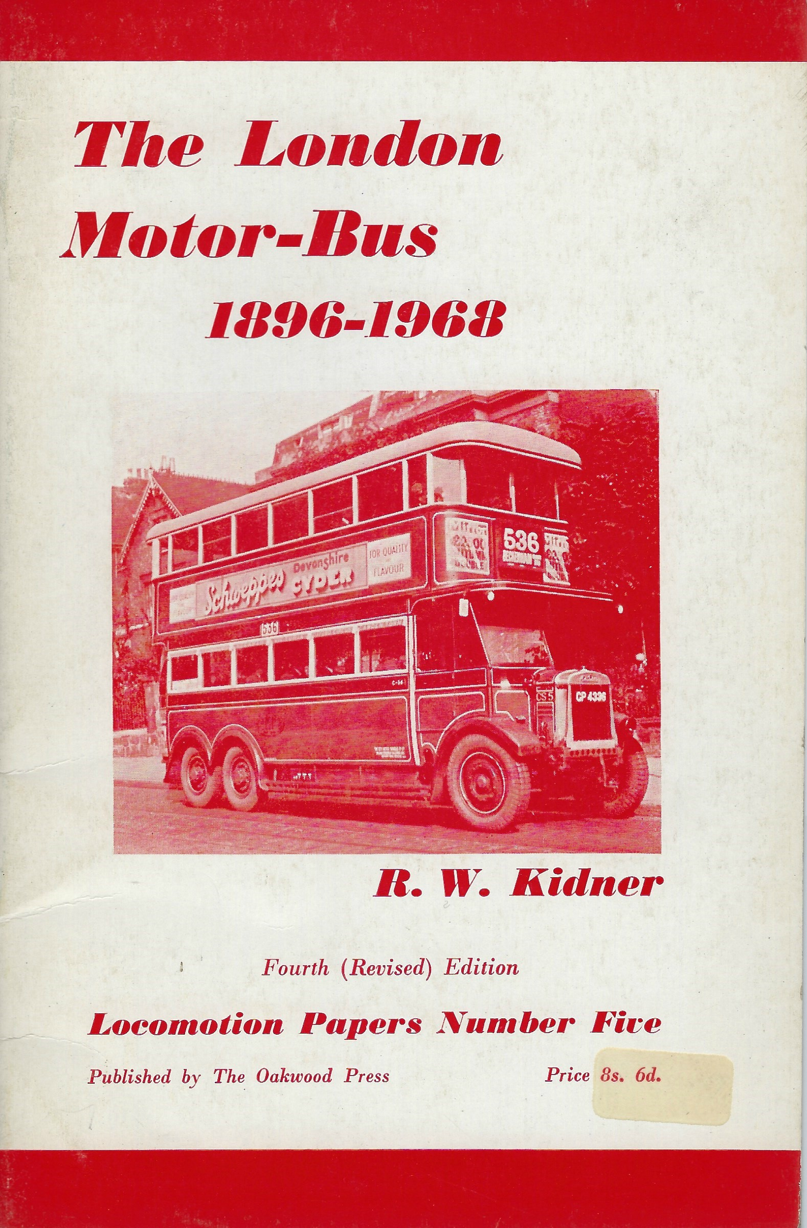 Image for The London Motor-Bus, 1898-1968