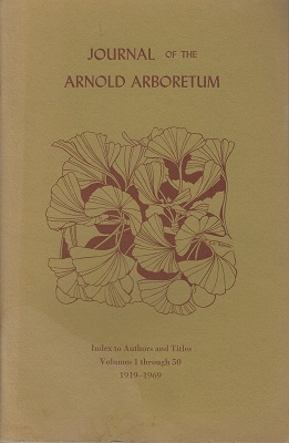 Image for Index to Authors and Titles, Volumes 1 through 50, 1919-1969 (Arnold Arboretum Journal)
