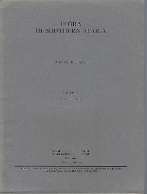 Image for Flora of Southern Africa which deals with the territories of South Africa, Transkei, Lesotho, Swaziland, Bophuthatswana, South West Africa/ Namibia and Botswana ( Volume 10, Part 1)   (Loranthaceae and Viscaceae)