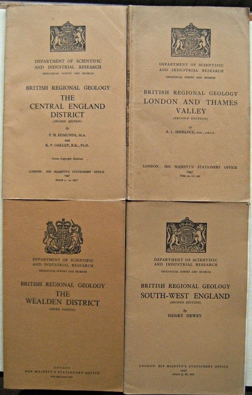 Image for British Regional Geology :The Wealden District. The Central England District.South-West England. London and the Thames Valley  (Four volumes, Richard Fitter's copies))