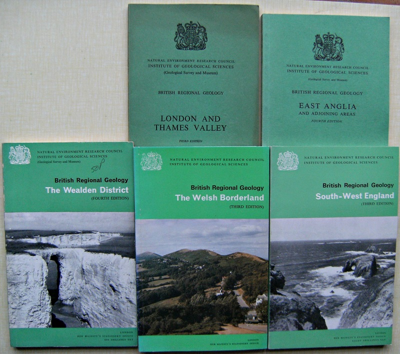 Image for British Regional Geology : East Anglia. London and the Thames Valley. South-West England. The Welsh Borderland. The Wealden District. [Five volumes,  Richard Fitter's copies]