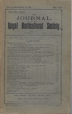 Image for Journal of the Royal Horticultural Society. Volume LIII Part 2.