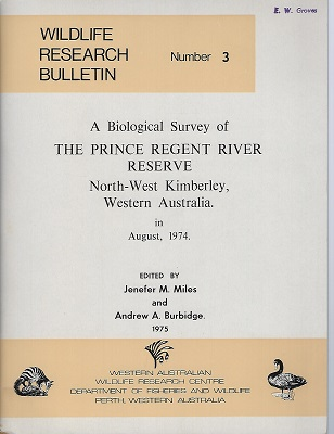 Image for A biological survey of the Prince Regent River Reserve, north-west Kimberley, Western Australia, in August 1974  [Eric Groves' copy]