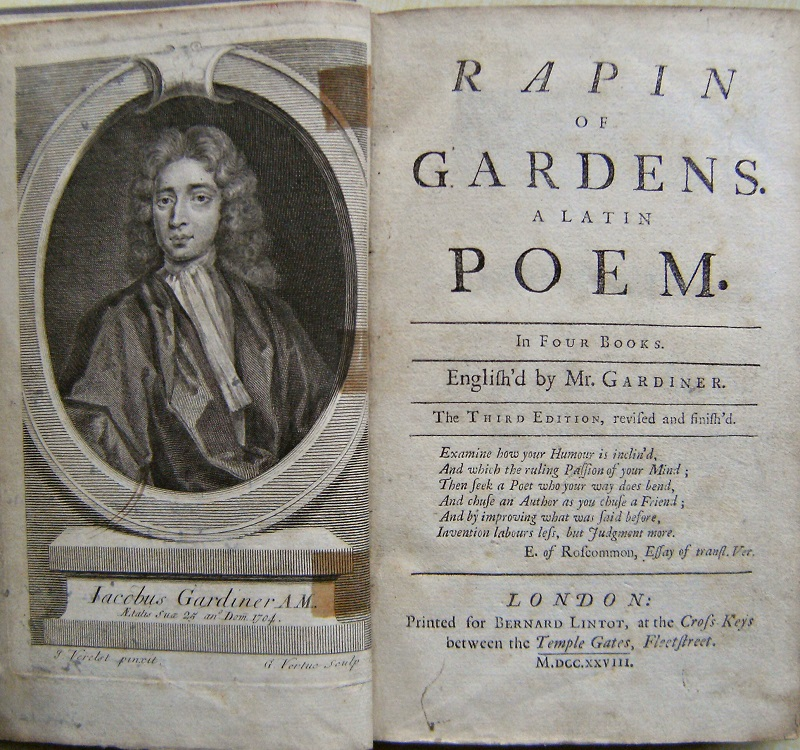 Image for Rapin : Of Gardens. A Latin poem in four books. English'd by Mr Gardiner