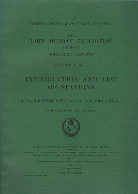 Image for Introduction and List of Stations - The John Murray Expedition, 1933-34, Scientific Reports
