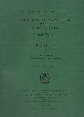 Image for Fishes - The John Murray Expedition, 1933-34, Scientific Reports