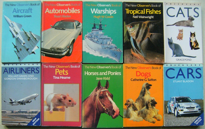 Image for OBSERVER PAPERBACKS - A COLLECTION OF TEN VOLUMES :  AIRLINERS, AIRCRAFT, WARSHIPS, PETS, HORSES & PONIES, CATS, CARS, DOGS, TROPICAL FISHES, AUTOMOBILES.