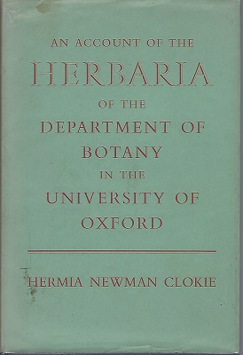 Image for An Account of the Herbaria of the Departmeny of Botany in the University of Oxford [Ruth Duthie's copy]