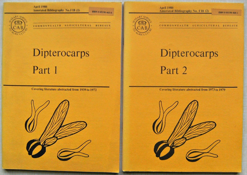 Image for Dipterocarps, Parts 1 & 2 - covering literature abstracted from 1939 to 1979.