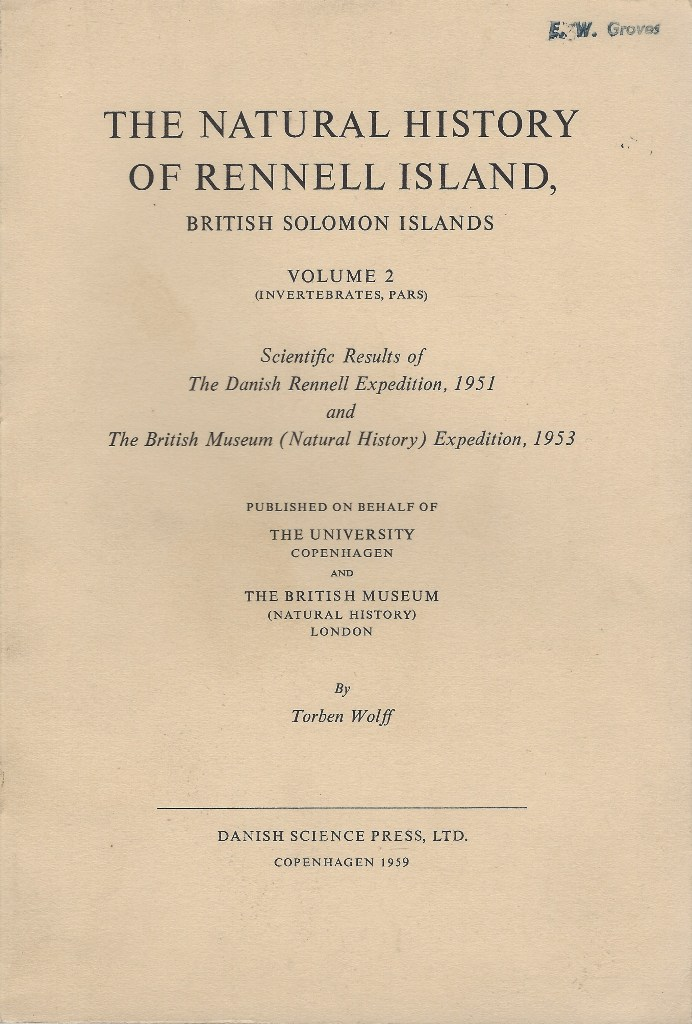Image for The Natural History of Rennell Island, British Solomon Islands. Volume 2  (Invertebrates, pars) {Eric Groves' copy}
