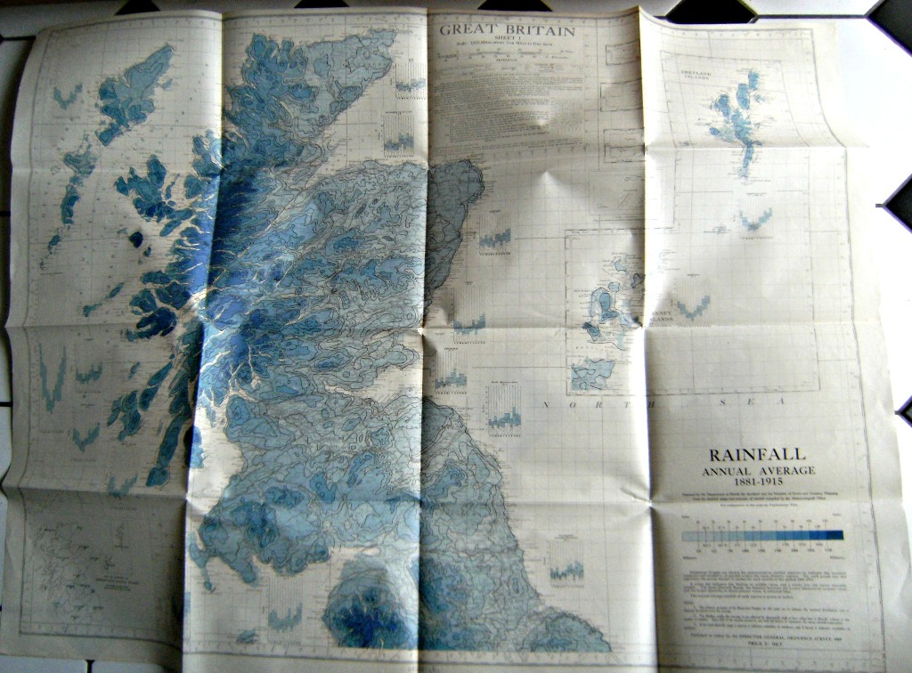 Image for Rainfall Map of Scotland : Annual Average 1881 - 1915  (Great Britain - Sheet 1)
