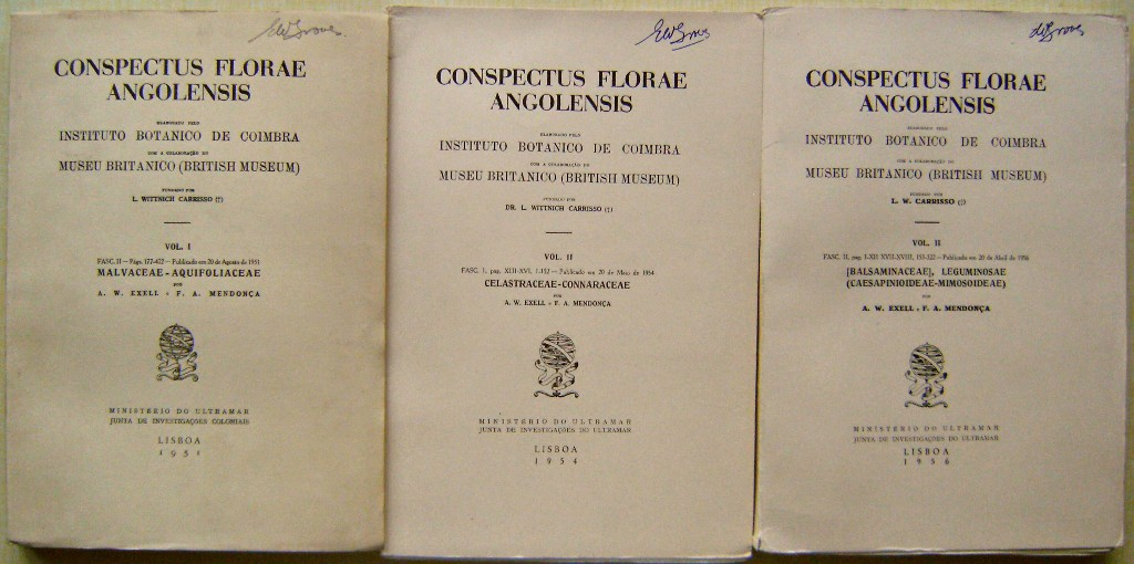 Image for Conspectus Florae Angolensis. Volumes I part 2 and Volume II parts 1 & 2. [Eric Groves' copies]