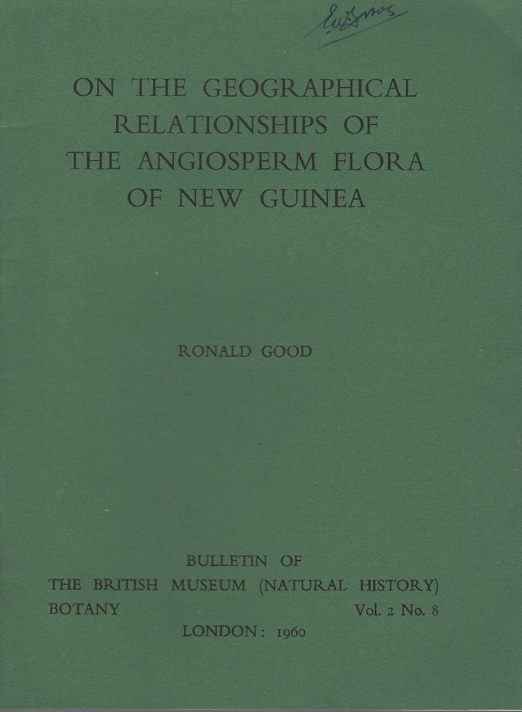 Image for On the Geographical Relationships of the Angiosperm Flora of New Guinea(Eric Groves' copy)